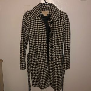 Michael Kors Houndstooth Wool Coat